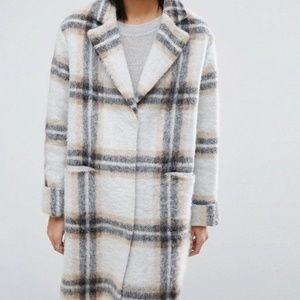 ASOS Jackets & Coats - ASOS Wool Blend Coat in Edge to Edge Check